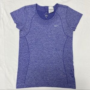 Nike Dri-Fit Ladies Purple and White Workout Top